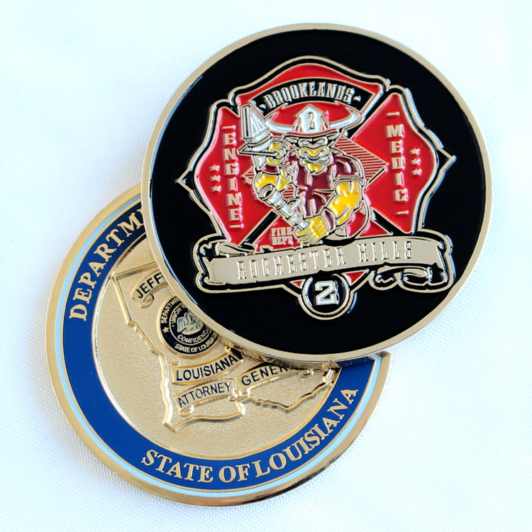 China Factory Manufacturer Supplier Wholesale Commemorative Challenge Coins Custom Logo Metal Coins Featured Image