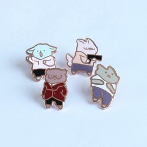 Badge factory make custom metal pins cheap custom enamel pins lapel badges shop