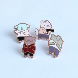 China Kunshan factory maker limited edition get pins made brass custom badge metal pin cute cartoon soft hard enamel pin custom