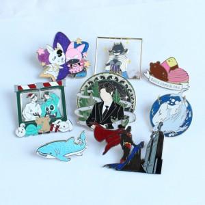 Factory Wholesale Hard Soft Enamel Pins Personalized Designer Custom Made Kpop Star BTS Pin