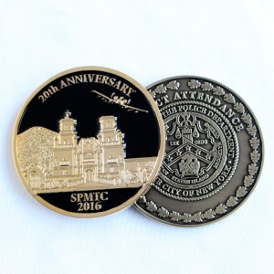 Wholesale challenge coins with custom logo metal coins for sale with no minimun police challenge coins
