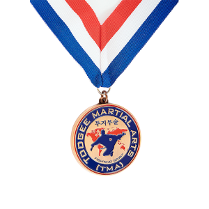 Antique copper sport medal