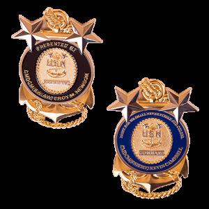 Custom 3D USN challenge coin