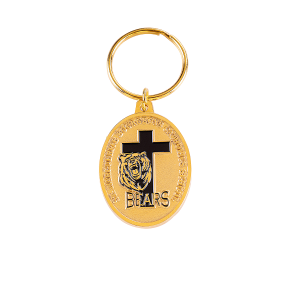 Gold color bear key chain