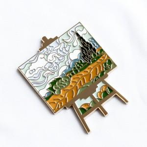 Kunshan China Lapel Pins Manufacturer Wholesale Metal Badge Pin Manufacturering Hard Enamel Custom Lapel Pin