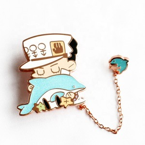 2021 New Style Kpop Fashion Design Soft Hard Enamel B t s Pin Badges metal custom made Lapel Pins wich chain