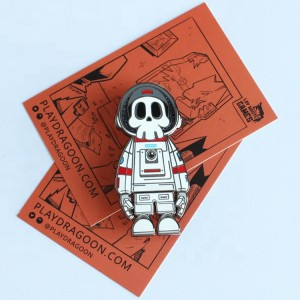 High Quality Custom Hard Enamel Pin Halloween Skull Enamel Pin Gift Enamel Pin With Backing Card