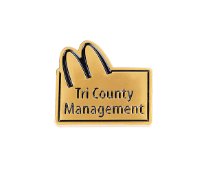 McDonalds' gold soft enamel pin