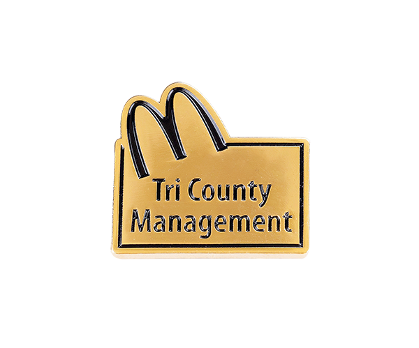Manufactur standard Photo Key Ring - McDonalds' gold soft enamel pin – Coins and Pins Co., Ltd.