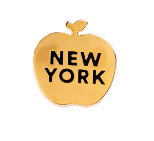 Big apuro Nork York lapel Pin