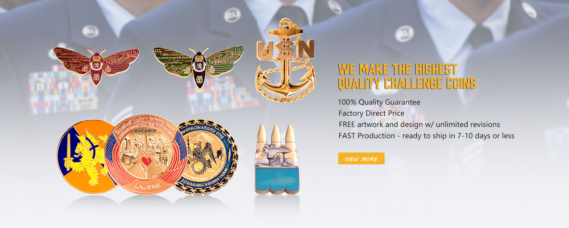 We make the highest quality Challenge Coins