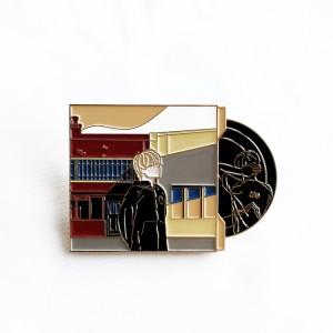 Professional custom hard enamel lapel pin badge translucent sandblast hard enamel pin manufacturer